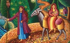 mary and joseph flight to egy[t